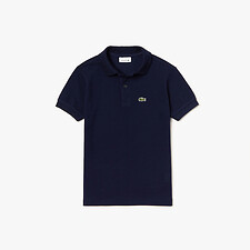 Image of Lacoste NAVY BLUE KIDS' PETITE PIQUE BASIC POLO
