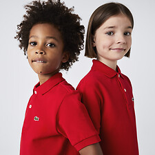 Image of Lacoste RED KIDS' PETITE PIQUE BASIC POLO