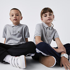 Image of Lacoste SILVER CHINE KIDS' BASIC POLO