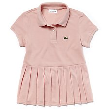Image of Lacoste FAIRY PINK KIDS' PLEATED POLO