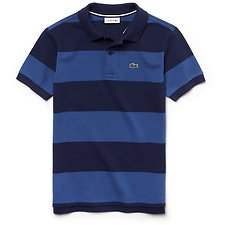 Image of Lacoste MARITIME/ELYSEE BLUE KIDS' RUGBY STRIPE POLO