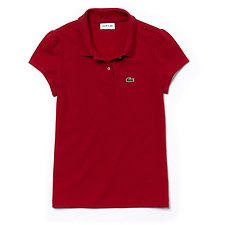 Image of Lacoste LACQUER KIDS' SCALLOPED COLLAR POLO