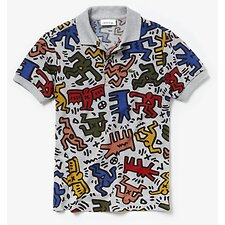Image of Lacoste SILVER CHINE/MULTICO KIDS' KEITH HARING POLO