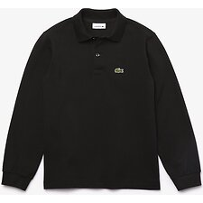 Image of Lacoste BLACK KIDS' LONG SLEEVE BASIC POLO