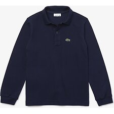 Image of Lacoste NAVY BLUE KIDS' LONG SLEEVE BASIC POLO