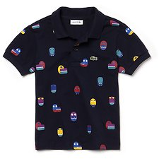 Image of Lacoste NAVY BLUE/MULTICO KIDS' PRINTED POLO