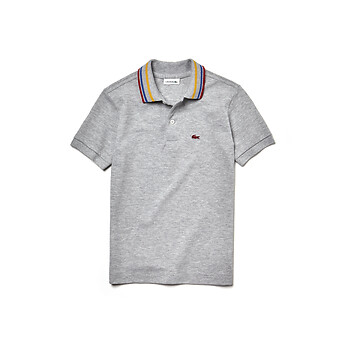 Image of Lacoste  KIDS' CONTRAST COLLAR POLO