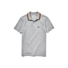 Image of Lacoste PLUVIER CHINE KIDS' CONTRAST COLLAR POLO