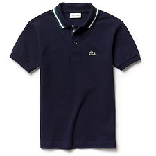 Image of Lacoste NAVY BLUE/ACONIT-WHITE KIDS' POLO WITH TIPPING