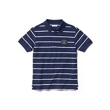 Image of Lacoste SAILOR CHINE/FLOUR KIDS' STRIPE POLO