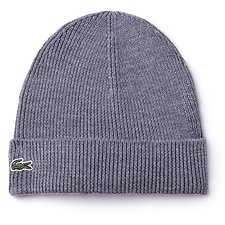 Image of Lacoste  MEN'S UNISEX WOOL RIB BEANIE