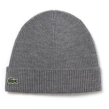 Image of Lacoste STONE MEN'S WOOL RIB BEANIE