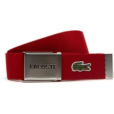 Picture of GIFT SET OF CANVAS BELT WITH PERFORATED LACOSTE PLATE