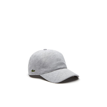 Image of Lacoste MEN S UNISEX COTTON PIQUE CAP. Image of Lacoste SILVER  CHINE ... 064ede5c1eae