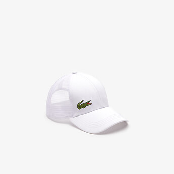 4b97ccad Image of Lacoste MEN'S SPORT GABARDINE AND MESH CAP. Image of Lacoste WHITE  LACOSTE TRUCKER ...