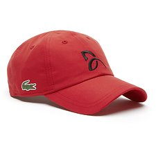Image of Lacoste RED MEN'S NOVAK DJOKOVIC MICROFIBRE CROC CAP
