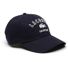 Image of Lacoste NAVY BLUE MEN'S UNISEX FAIRPLAY COTTON CAP