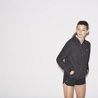 Image of Lacoste  WOMEN'S LACOSTE SPORT TENNIS HOODED SWEATER