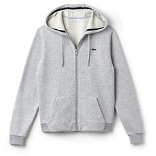 Image of Lacoste SILVER/NAVY BLUE WOMEN'S FULL ZIP HOODIE