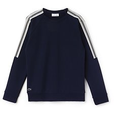 Image of Lacoste NAVY BLUE/VANILLA PLANT WOMEN'S CREPE FLEECE SWEAT