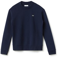 Image of Lacoste NAVY BLUE WOMEN'S BASIC CREW NECK SWEATSHIRT