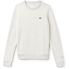 Image of Lacoste ALPES GREY CHINE WOMEN'S BASIC CREW NECK SWEATSHIRT