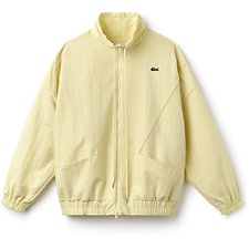 Image of Lacoste ANTHORE YELLOW WOMEN'S FASHION SHOW RETRO ZIPPERED JACKET