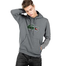 Image of Lacoste STONE MEN'S BIG CROCODILE HOODED PULLOVER