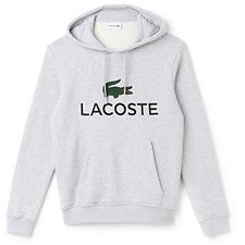 Image of Lacoste SILVER CHINE MEN'S HOODED LOGO PULL OVER
