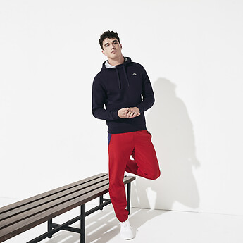 men 39 s lacoste sport hooded pullover lacoste australia. Black Bedroom Furniture Sets. Home Design Ideas