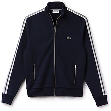 Image of Lacoste NAVY BLUE MEN'S FULL ZIP MOCK NECK SWEAT