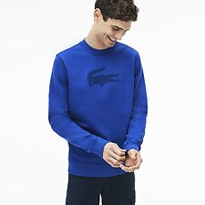 Image of Lacoste ELECTRIC/MARINO MEN'S BIG CROC SWEAT