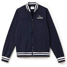 Image of Lacoste NAVY BLUE/WHITE MEN'S RETRO TRACK JACKET
