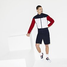 Image of Lacoste  MEN'S COLOUR BLOCK MOCK NECK SWEAT