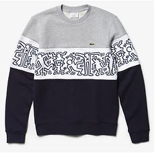 Image of Lacoste NAVY BLUE/WHITE-SILVER CH MEN'S KEITH HARING SWEATSHIRT