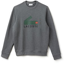 Image of Lacoste GALAXITE CHINE MEN'S BLOCK CROC SWEATSHIRT