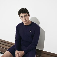 Image of Lacoste NAVY BLUE BASIC CREW NECK SWEATSHIRT