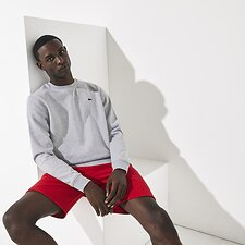 Image of Lacoste SILVER CHINE BASIC CREW NECK SWEATSHIRT