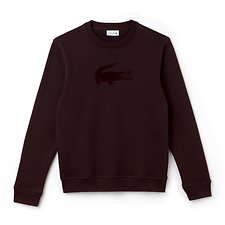 Image of Lacoste VERTIGO MEN'S CREW NECK VELVET CROCODILE SWEATSHIRT
