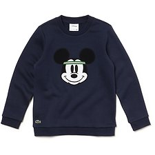 Image of Lacoste NAVY BLUE KIDS' DISNEY CREW NECK SWEATSHIRT