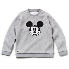 Image of Lacoste SILVER CHINE KIDS' DISNEY CREW NECK SWEATSHIRT