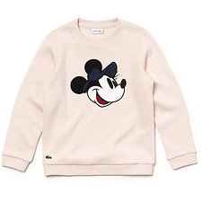 Image of Lacoste FLAMINGO KIDS' DISNEY CREW NECK SWEATSHIRT