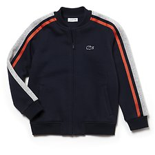 Image of Lacoste NAVY BLUE/SILVER CHINE-WA KIDS' RETRO SWEAT
