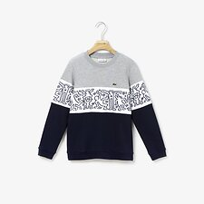 Image of Lacoste NAVY BLUE/WHITE-SILVER CH KIDS' KEITH HARING SWEATSHIRT