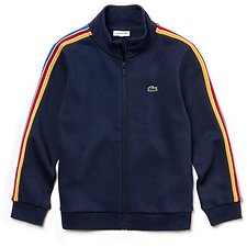 Image of Lacoste NAVY BLUE KIDS' FULL ZIP TRACK JACKET