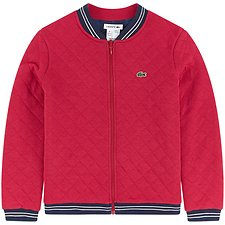 Image of Lacoste LACQUER/MULTICO KIDS' REVERSIBLE VARSITY JACKET