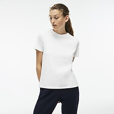 Image of Lacoste FLOUR WOMEN'S SPLIT BACK TEE