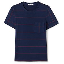 Picture of CREW NECK STRIPE TEE WITH POCKET