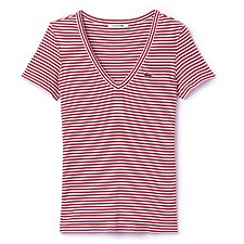 Picture of DEEP V NECK STRIPE TEE