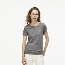 Image of Lacoste STONE WOMEN'S CREW NECK SOLID TEE